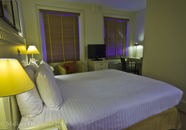 A standard double in the Kensington House boutique hotel London on Mallory on Travel adventure photography