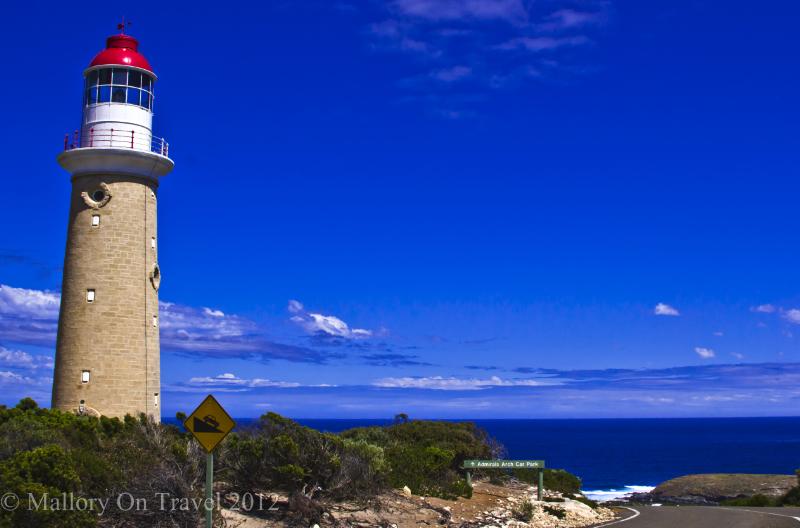 Cape du Circuel lighthouse on Kangaroo Island, off South Autsralia on Mallory on Travel adventure photography