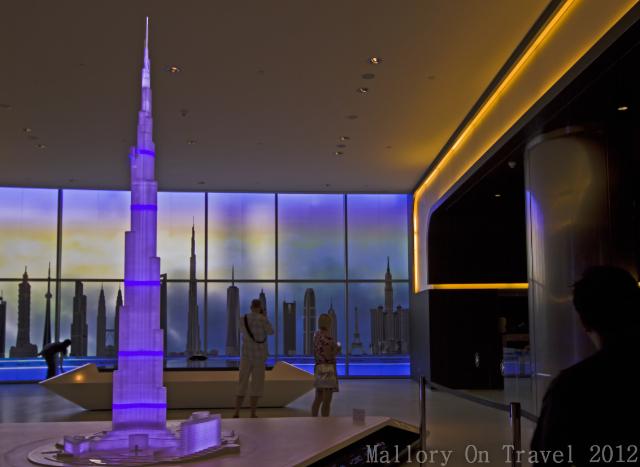 The scale model of the Burj Khalifa ticket sales area in the Emirate of Dubai on Mallory on Travel, adventure, adventure travel, photography Iain Mallory-300-7 burj-khalifa