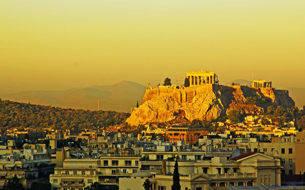 The Acropolis and Parthenon at sunrise in Athens, Mediterranean Greece on Mallory on Travel adventure photography