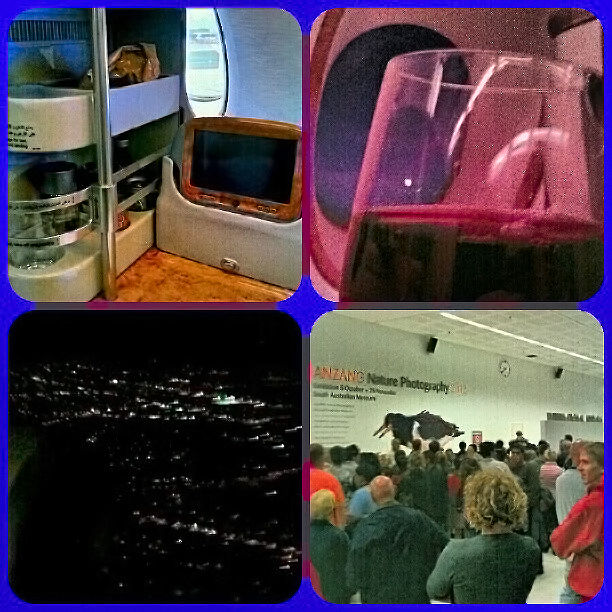 Pioneer instagram montage of the inaugural Emirates flight to Adelaide on Mallory on Travel adventure photography