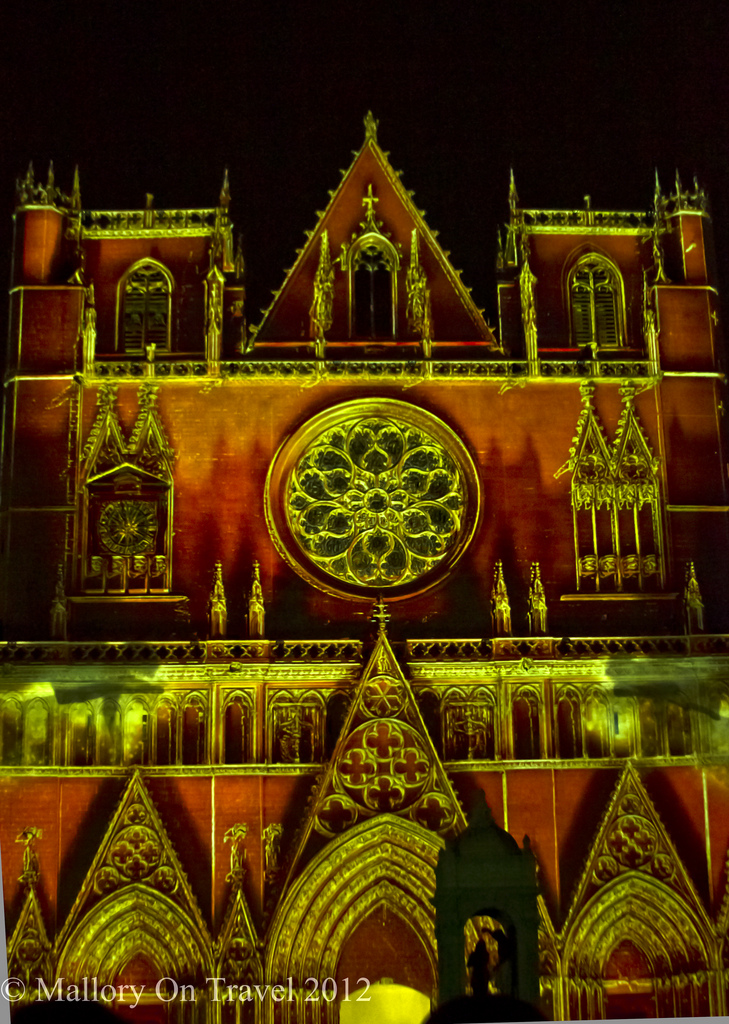 The Chameleon Cathedral Lyon Festival of Light in the Rhône Alpes region of France on Mallory on Travel adventure photography Iain Mallory-300-10