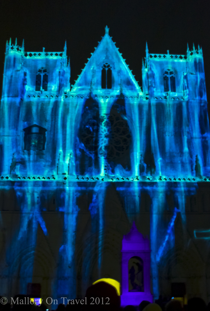 The Chameleon Cathedral Lyon Festival of Light in the Rhône Alpes region of France on Mallory on Travel adventure photography Iain Mallory-300-7