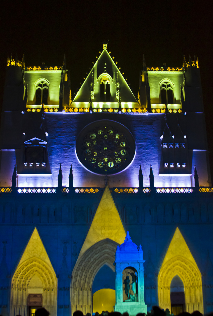 The Chameleon Cathedral Lyon Festival of Light in the Rhône Alpes region of France on Mallory on Travel adventure photography Iain Mallory-300-6