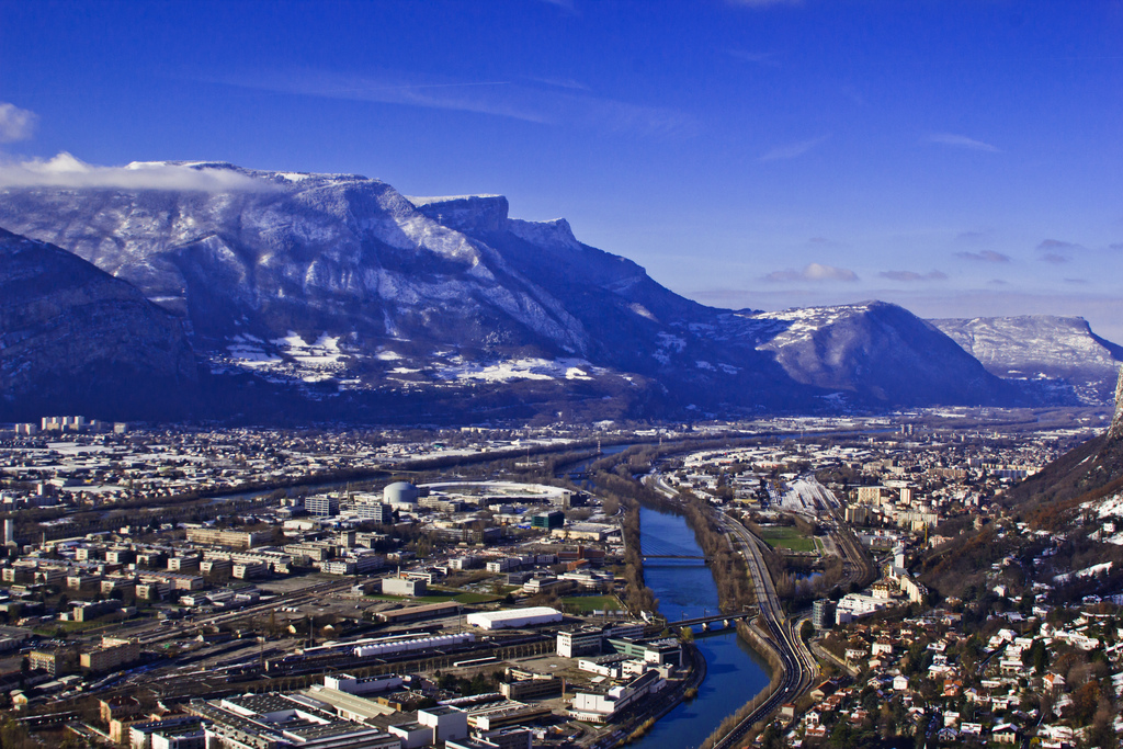 Views from La Bastille over Grenoble and the River Isère in the Rhône Alpes region of France on Mallory on Travel adventure photography Iain Mallory-300-32