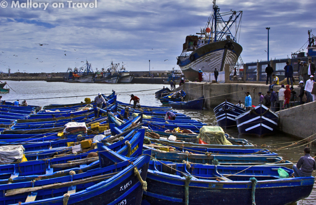 Travel tips - The fishing harbour at Essaouira on the North African coast of Morocco on Mallory on Travel adventure photography Iain_Mallory_07028A