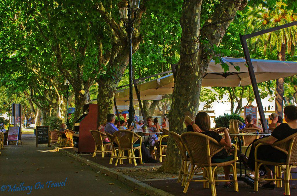Café culture, St Nicolas Square, Bastia on the French island of Corsica on Mallory on Travel adventure photography Iain Mallory_Bastia 1-2