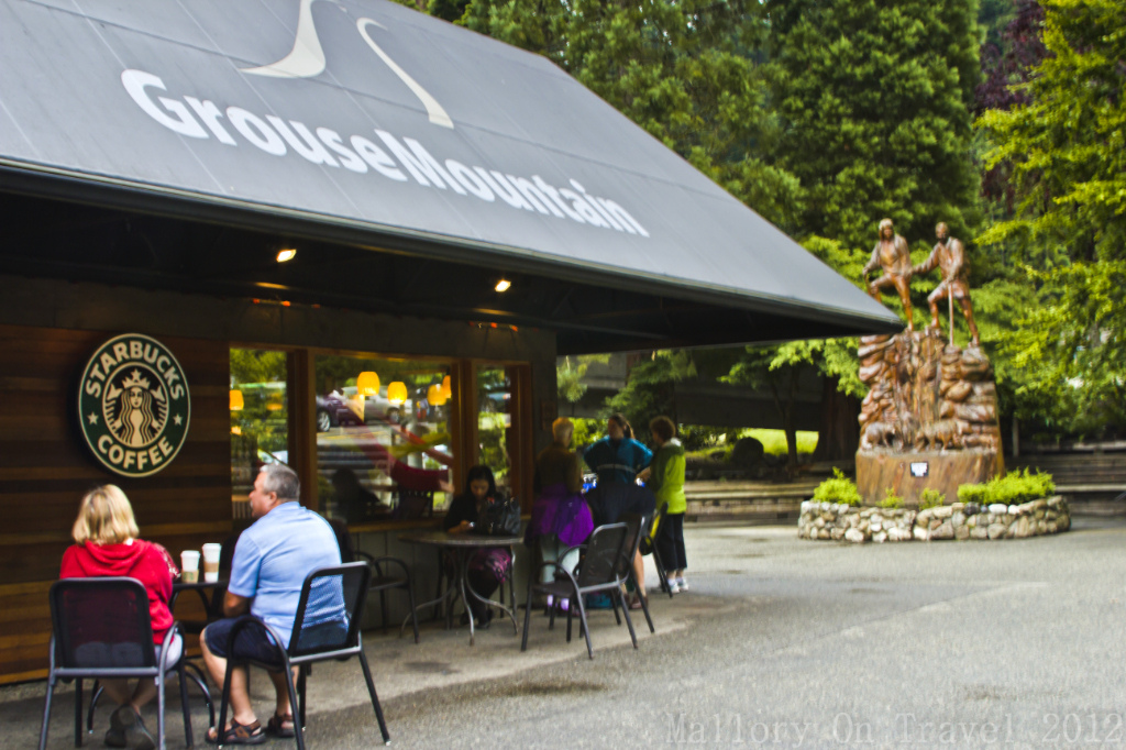 Big brand coffee store at the base of Grouse Mountain In Vancouver, British Columbia, Canada on Mallory on Travel, adventure, photography Iain Mallory-300-33