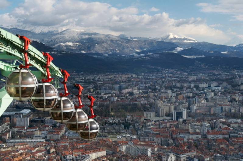 Bastille Cable Car in Grenoble in Rhône-Alpes region of France on Mallory on Travel adventure photography