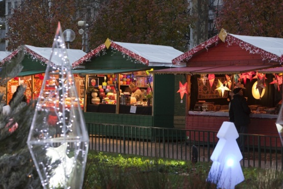 The Christmas Market in Lyon in the Rhône-Alpes region of France on Mallory on Travel adventure photography