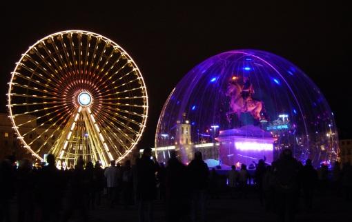 Lyon, Festival of Lights, Rhône-Alpes region of France on Mallory on Travel adventure photography