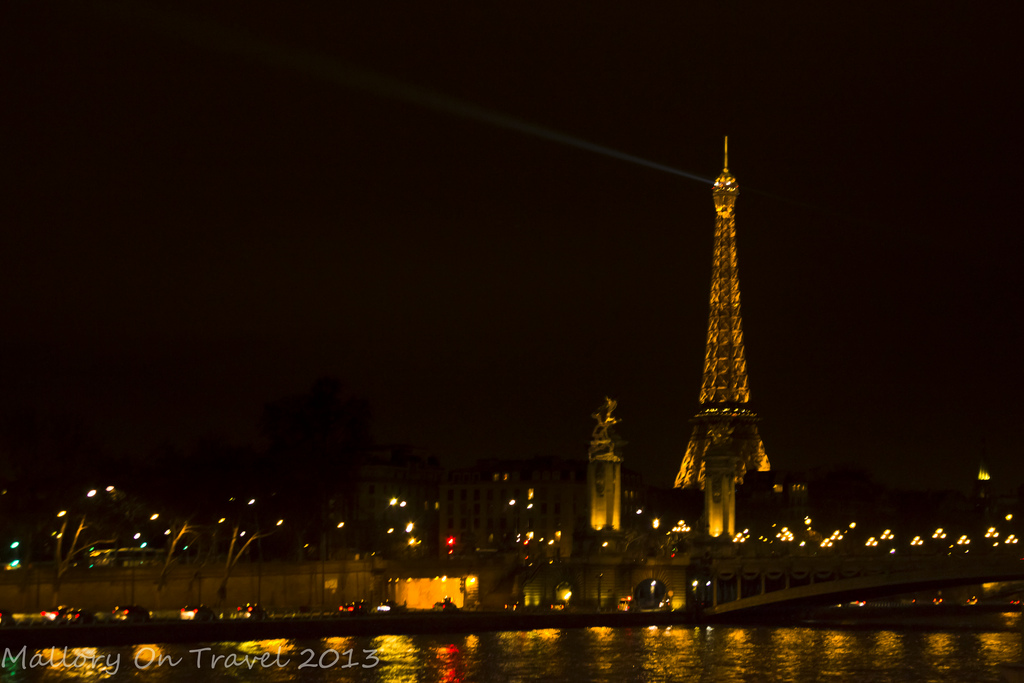 The Eiffel Tower at night near the River Seine in Paris, France on Mallory on Travel, adventure, photography Iain Mallory-300-6-1