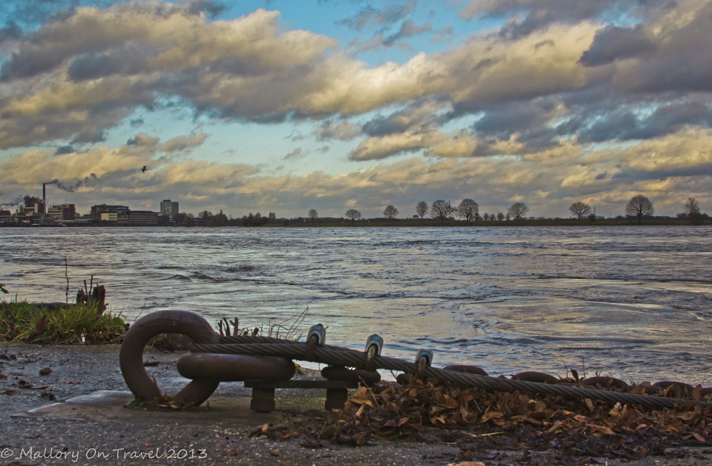A swollen River Rhine in Duisburg, Germany on Mallory on Travel, adventure, adventure travel, photography Iain Mallory-300-4 (2)