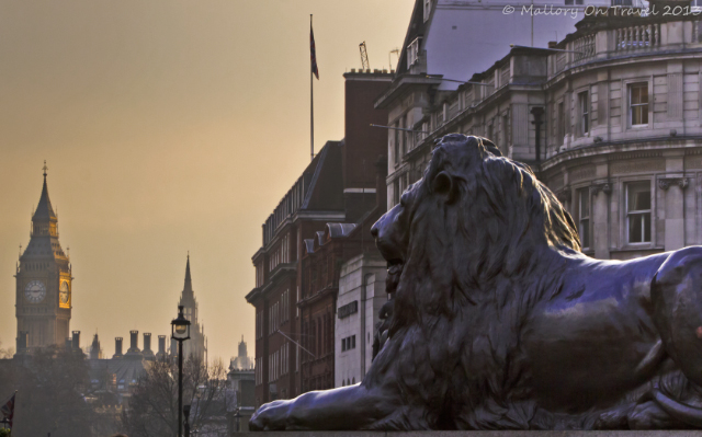 The lions of Trafalgar Square under Nelson's Column in London, capital city of Great Britain on Mallory on Travel, adventure, adventure travel, photography Iain Mallory-300-70 trafalgar-square