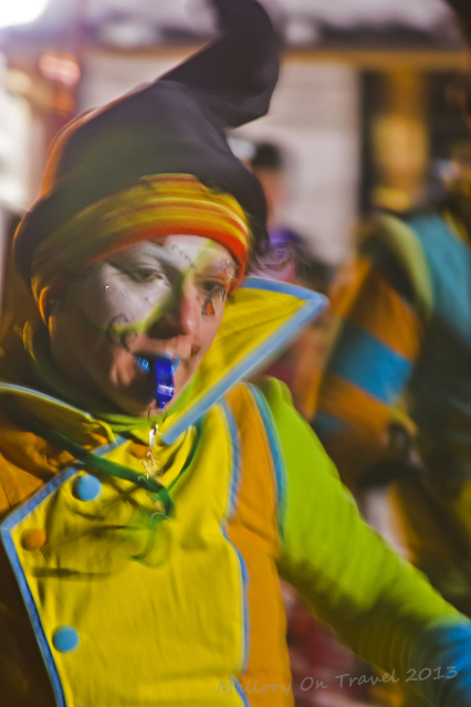 Chamonix, in the Rhone-Alpes region of France welcomes the Telemark Skiing World band leader for the carnival on Mallory on Travel, adventure, adventure travel, photography Iain Mallory-300-10 carnival_performer