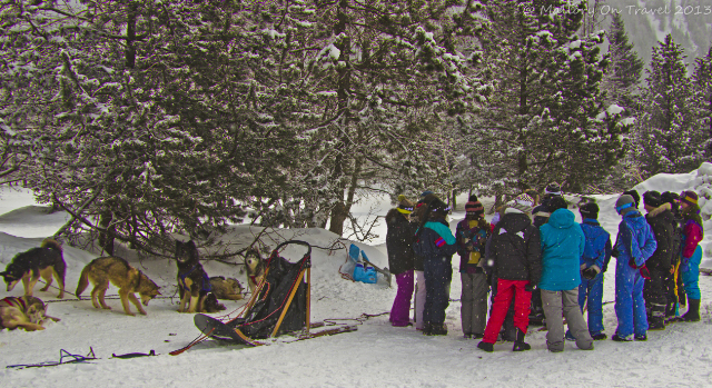 Kids being briefed for a sled ride with huskies in Chamonix in the Rhone-Alpes region of France on Mallory on Travel, adventure, adventure travel, photography Iain Mallory-300-48 dog_sledding