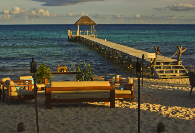 Sunset dining on the Carmen del Playa in Riviera Maya in Mexico on Mallory on Travel, adventure, adventure travel, photography Iain Mallory-300-6-1