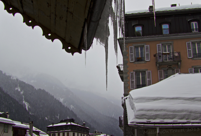 Icicles and palace hotels in Chamonix in the Rhone Alpes region of France on Mallory on Travel, adventure, adventure travel, photography Iain Mallory-300-60 icicles_chamonix