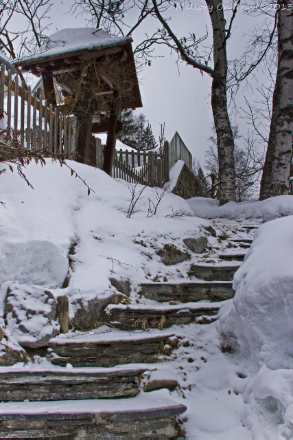 Snow covered steps in Chamonix in the Rhone Alpes region of France on Mallory on Travel, adventure, adventure travel, photography Iain Mallory-300-69 path_chamonix