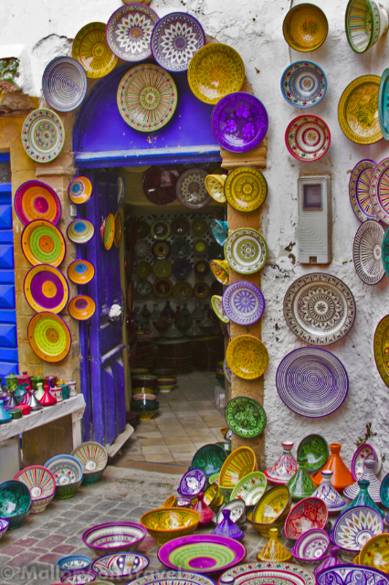 Colourful ceramic mosaic in the souks of the medina in Essaouri, Morocco  on Mallory on Travel, adventure, adventure travel, photography  Iain_Mallory_0706001-1