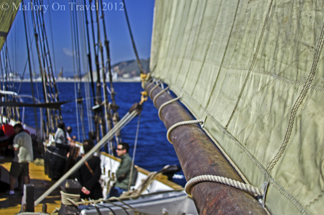 A floating museum off the coast of Barcelona the capital of Catalonia, Spain on Mallory on Travel, adventure, adventure travel, photography Iain Mallory-300-114 sailing