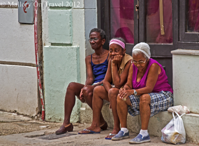 International Women's Day; A group of bored ladies in Havana the capital of the Caribbean island of Cuba on Mallory on Travel, adventure, adventure travel, photography Iain Mallory-300-164A cuban-ladies.jpg