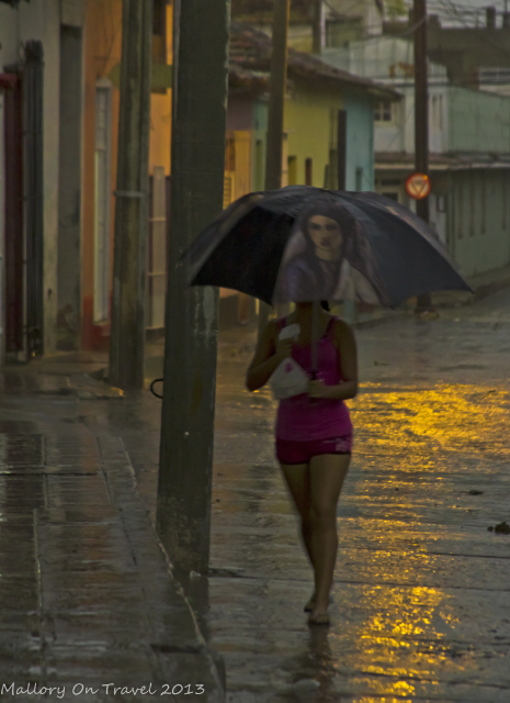 Cuban girl in Trinidad after a storm on the Caribbean island of Cuba on Mallory on Travel, adventure, adventure travel, photography Iain Mallory-300-17 cuban_girl