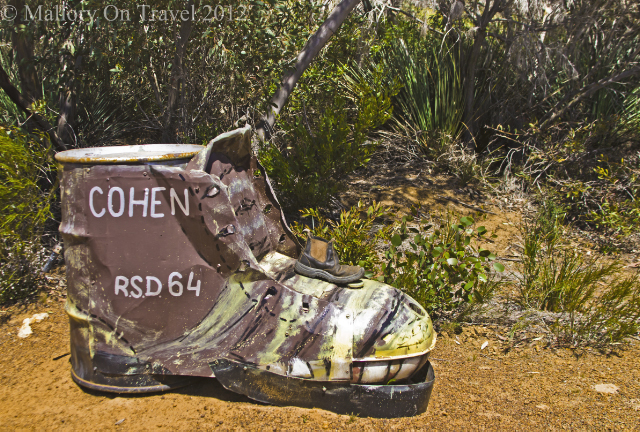 Boot mailbox on Kangaroo Island near Adelaide in South Australia on Mallory on Travel, adventure, adventure travel, photography Iain Mallory-300-26 boot_mailbox