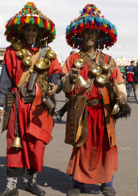 Comfort zones; Moroccan performers in Djemma el Fna square in the medina of Marrakech on Mallory on Travel, adventure, adventure travel, photography Iain_Mallory_00074 moroccan_performers