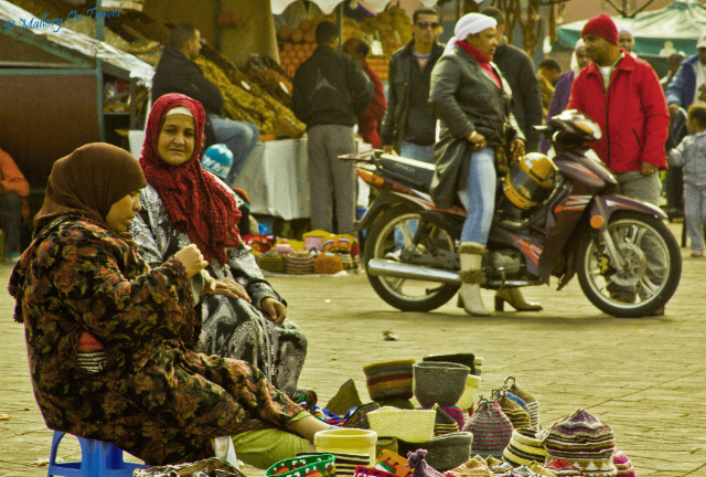 International Women's Day; Moroccan women in Djemaa el Fna square in Marrakech on Mallory on Travel, adventure, adventure travel, photography Iain_Mallory_00282a-1 moroccan_women-1