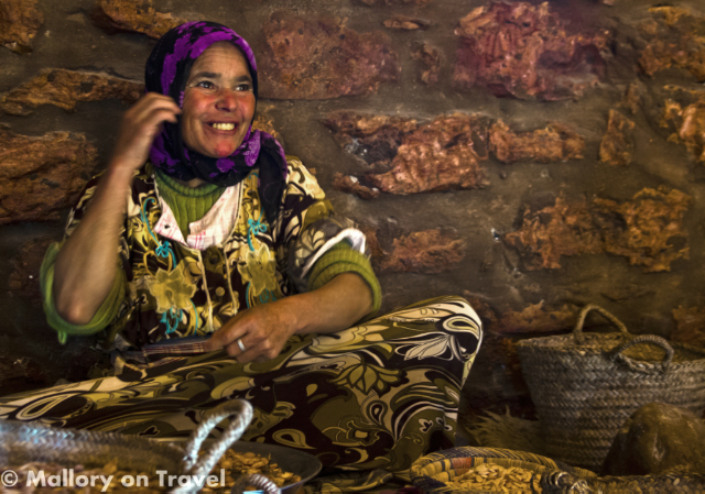 Moroccan woman working in an Argan oil cooperative near Essaouira on Mallory on Travel, adventure, adventure travel, photography Iain_Mallory_07427 moroccan_woman-1