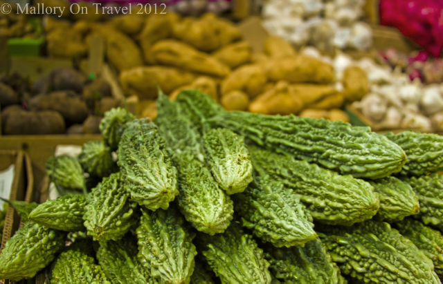 Strange fruit and vegetables in the souk in the fishing village of Seeb near Muscat in the Sultanate of Oman on Mallory on Travel, adventure, adventure travel, photography Iain Mallory -139 alien_veggies