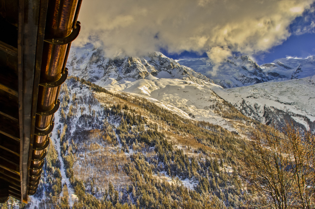 Chalet Les Mazots surrounded by mountains in Chamonix, France on Mallory on Travel, adventure, adventure travel, photography Iain Mallory-300-83