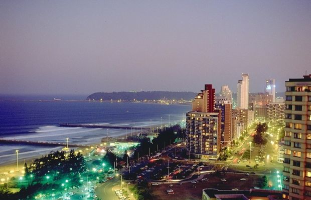 Durban by night in the KwaZulu-Natal in South Africa on Mallory on Travel, adventure, adventure travel, photography