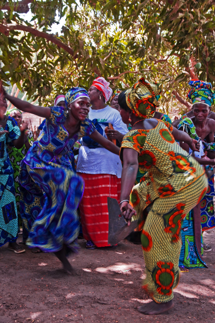 Women dancers of the Jola village of Kanuma at a kumpo in The Gambia, west Africa on Mallory on Travel, adventure, adventure travel, photography Iain Mallory-1608