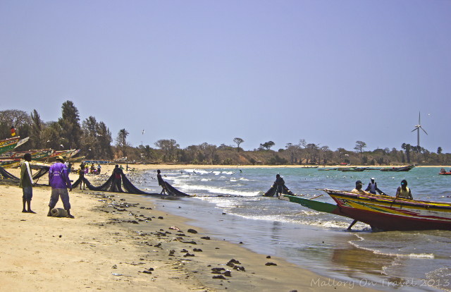 Fishermen dragging in the nets on the beach at Tanji market, The Gambia, West Africa on Mallory on Travel, adventure, photography and travel Iain Mallory-300-34 gambian_fishermen