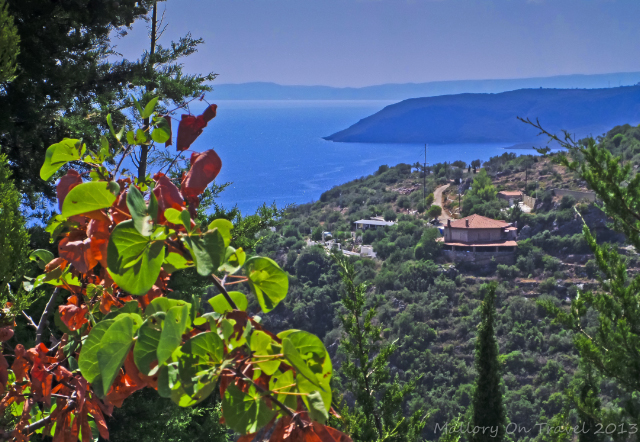 The view of Kardamili from the hilltop of Agia Sofia in the Peloponnese, Greece on Mallory on Travel adventure, adventure travel, photography Iain Mallory-300-14