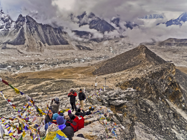The view from the summit of Kala Patthar in the Khumbu region, near Mount Everest base campin the Himalalya, Nepal adventure, adventure travel, photography on Mallory on Travel