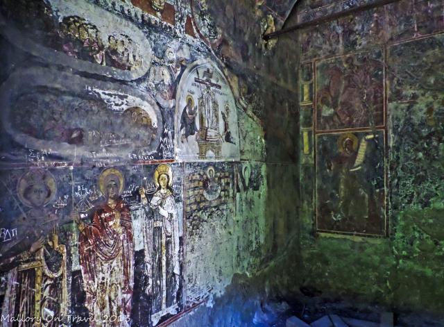 Frescos inside the Moni Lykaki in the Viros Gorge near Kardamili in the Peloponnese, Greece on Mallory on Travel adventure, adventure travel, photography on Mallory on Travel adventure, adventure travel, photography Iain Mallory-300-18