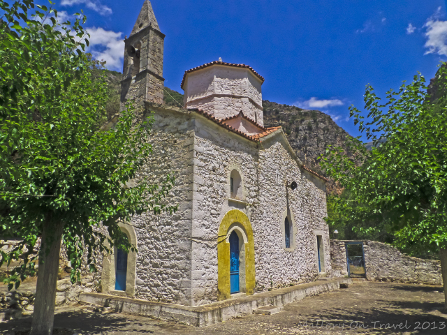 Moni Sotiros in the Viros Gorge near Kardamili in the Peloponnese, Greece on Mallory on Travel adventure, adventure travel, photography Iain Mallory-300-4