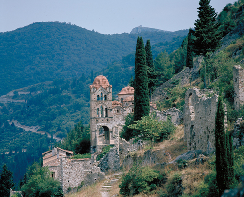 The mystical tower town of Mystras, in the Peloponese Greece adventure, adventure travel, photography on Mallory on Travel mystras