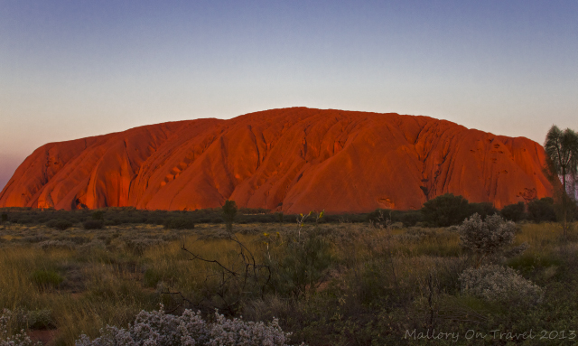 Stunning Uluru formerly Ayers Rock at sunset in the Northern Territory, Australia on Mallory on Travel adventure, adventure travel, photography Iain Mallory-300-51_uluru_sunset