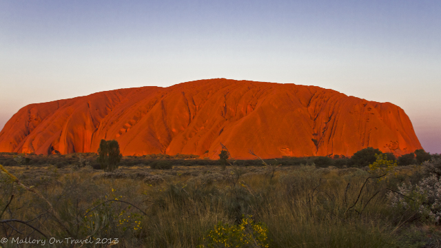 Stunning Uluru formerly Ayers Rock at sunset in the Northern Territory, Australia on Mallory on Travel adventure, adventure travel, photography Iain Mallory-300-52_uluru_sunset