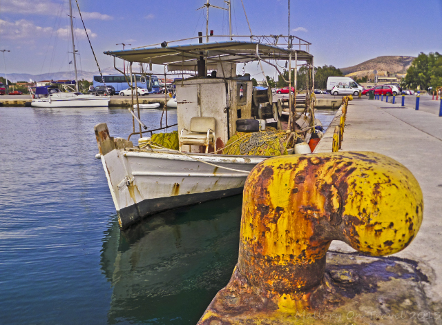 Fishing boat in the harbour of Nafplio on the Peloponnese Peninisula, Greece on Mallory on Travel adventure, adventure travel, photography  Iain Mallory-300-58_nafplio