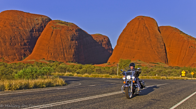 A Harley-Davidson motorcycle tour around Uluru and Kata Tjuta in the Northern Territory, Australia on Mallory on Travel adventure, adventure travel, photography Iain Mallory-300-58_kata_tjuta