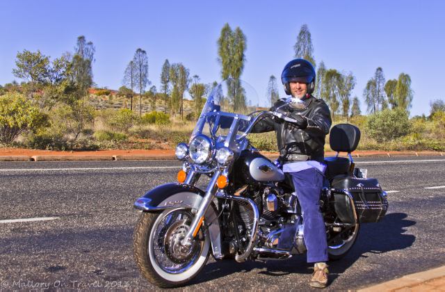 A Harley-Davidson motorcycle tour around Uluru and Kata Tjuta in the Northern Territory, Australia on Mallory on Travel adventure, adventure travel, photography Iain Mallory-300-59_harley_davidson