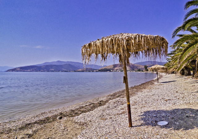 The pebbled Karathona beach near Nafplio on the Peloponnese Peninisula, Greece on Mallory on Travel adventure, adventure travel, photography Iain Mallory-300-63_Karathona_Beach