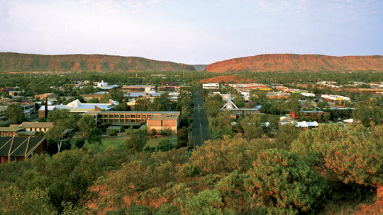 Alice Springs in the Northern Territory in Australia on Mallory on Travel adventure, adventure travel, photography alice_springs_township_ali_sur_u_1300710_540x304.ashx