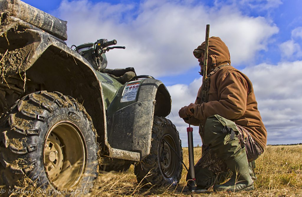 Quad bike for moose and bear hunting at Hudson Bay, Manitoba in Canada on Mallory on Travel adventure, adventure travel, photography Iain Mallory-300-120_swampy_cree