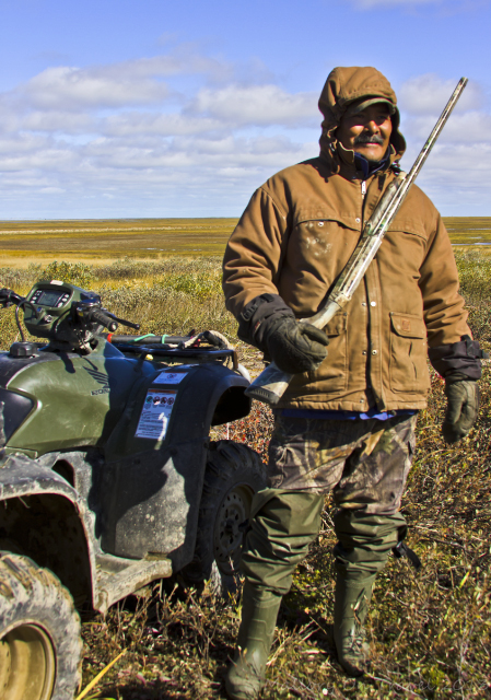 Cree guide for for moose and bear hunting at Hudson Bay, Manitoba in Canada on Mallory on Travel adventure, adventure travel, photography